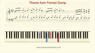 """How To Play Piano: Theme from """"Forrest Gump"""" Piano Tutorial by Ramin Yousefi"""
