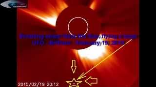 "Breaking news! Near the Sun, flying a large UFO - ""Brilliant"" - February 19, 2015"