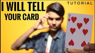 I Will Tell Your Card || CARD MAGIC || Tutorial
