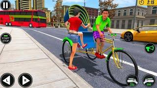 Bicycle Tuk Tuk Auto Rickshaw - New Rickshaw Driving Game - Android Gamepley screenshot 3