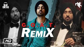G.O.A.T. (Official Remix)   DJ NYK & DJ Chetas   Diljit Dosanjh   New Punjabi Remix Songs 2020