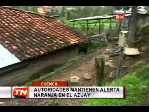 Autoridades mantienen alerta naranja en el Azuay