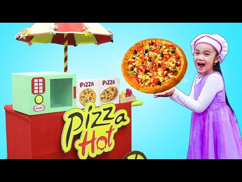 Hana Pretend Play Selling Fast Food Pizza Delivery Toys for Kids Play Set