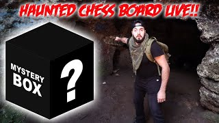 HAUNTED CHESS BOARD UNBOX LIVE! unboxing FANS CHRISTMAS MYSTERY BOXES!! | MOE SARGI