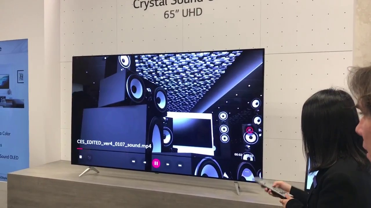 OLED uses actual screen as speaker (Crystal Sound)