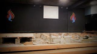 Большая стройка в церкви, перепланировка зала - Часть 1