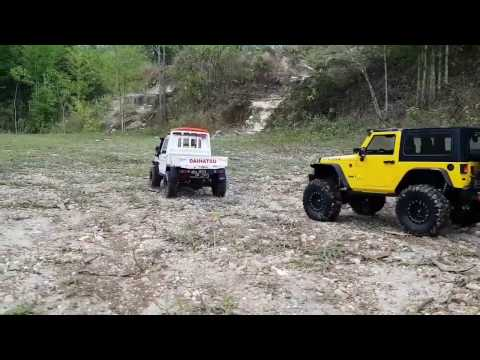 RC scale Taft pickup & JK wrangler expedition