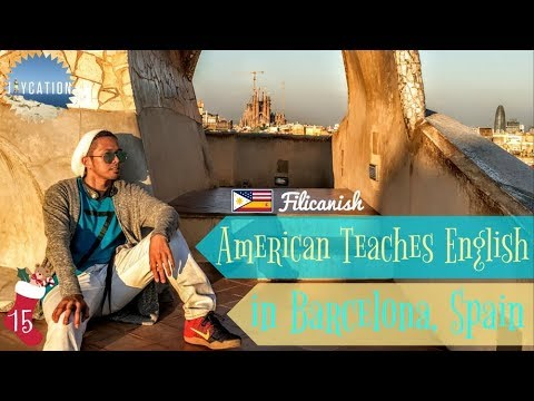 AMERICAN TEACHES ENGLISH IN BARCELONA SPAIN 🇺🇸🇪🇸📚🗣