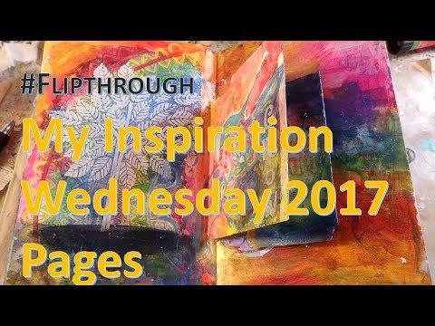 E: Art Journal Flipthrough - My Year of Inspiration Wednesday