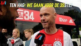 Feestende Erik Ten Hag: Wij Gaan Vol Voor de 35ste Titel Met Ajax!