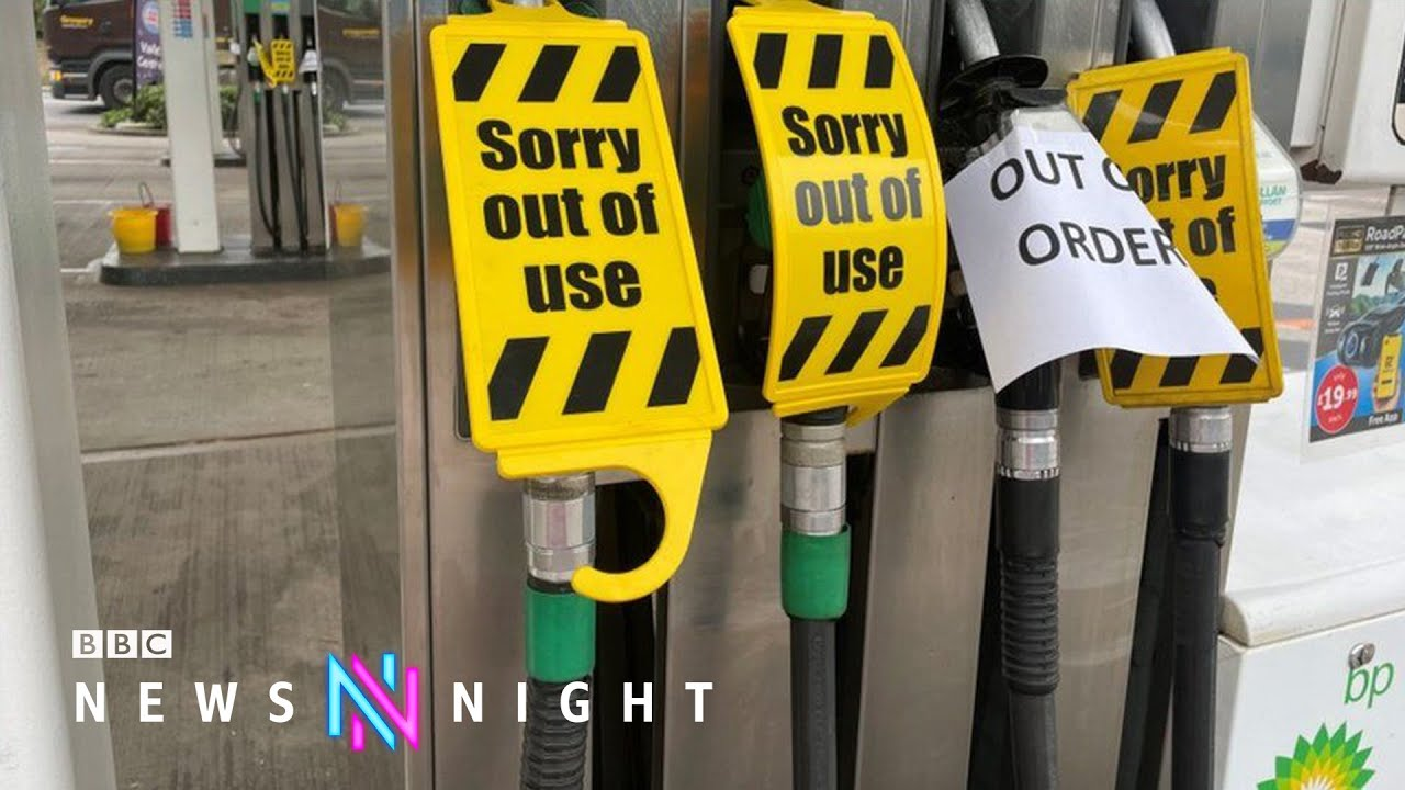 Download UK petrol stations close due to lorry driver shortages - BBC Newsnight