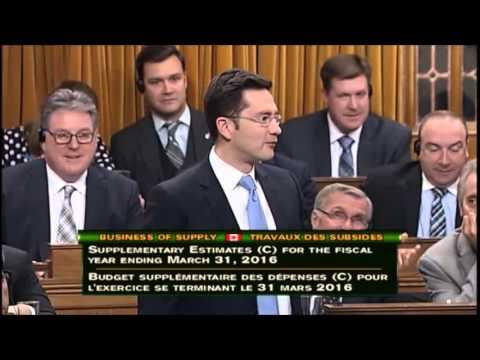 MP Pierre Poilievre asks Scott Brison to verify the estimates bill is complete