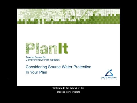 PlanIt: Considering Source Water Protection in Your Plan Tutorial