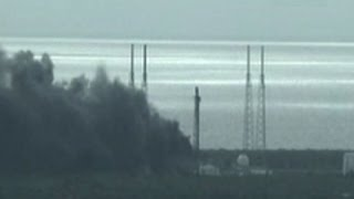 Raw: Smoke Billows after Space X Rocket Explodes