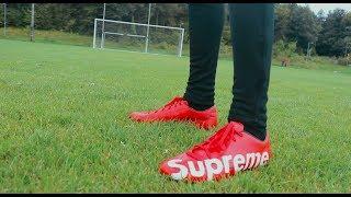 NIKE AND SUPREME FOOTBALL BOOT CUSTOM