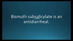 How to pronounce bismuth subsalicylate (Pepto-Bismol) (Memorizing Pharmacology Flashcard)