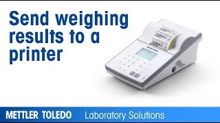 How to print labels and weighing results with XPR balances