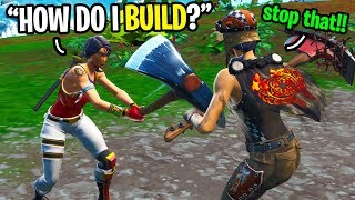 This girl played with Keyboard and Mouse for the FIRST time on Fortnite... (I helped her!)