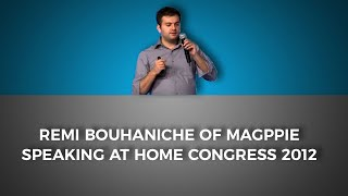 Remi Bouhaniche of Magppie speaking at