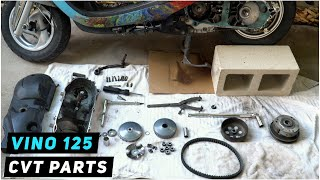 Yamaha Vino 125  CVT Parts Inspection (belt, rollers, clutch, variator) | Mitch's Scooter Stuff