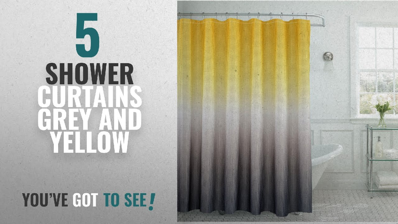 Top 10 Shower Curtains Grey And Yellow [2018]: Creative