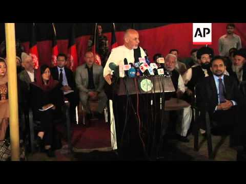 Afghan presidential candidate says unity talks will continue but country can't accommodate two leade