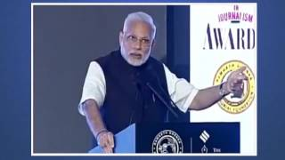 Watch how PM Modi slammed Indian Express at its function for its mischievous reporting