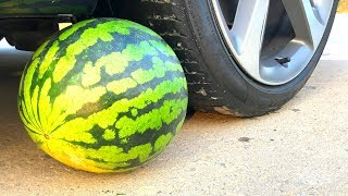 Crushing Crunchy & Soft Things by Car! - EXPERIMENT: YELLOW WATERMELON VS CAR