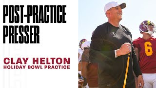 USC Football - Holiday Bowl Practice: Clay Helton