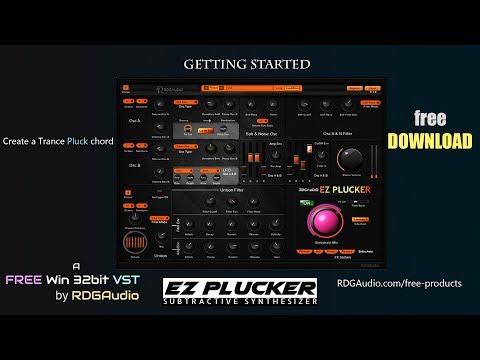 EZ Plucker RDGAudio New 2017 Subtractive Synthesizer VST Plugins Getting started FL Studio