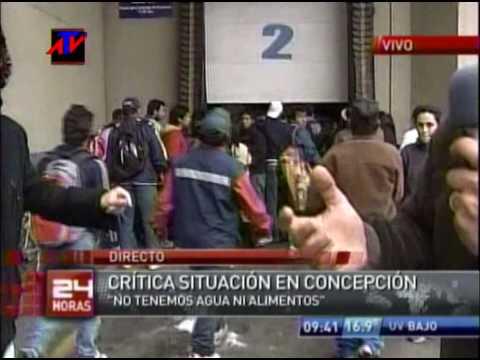 saqueos supermercadospost terremoto en chile en concepcion post 27 Feb 2010 TVN
