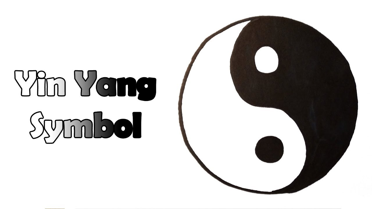 How To Draw The Yin Yang Symbol Very Easy For Kids Youtube