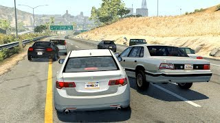 Highway Car Crashes #7 - BeamNG.Drive