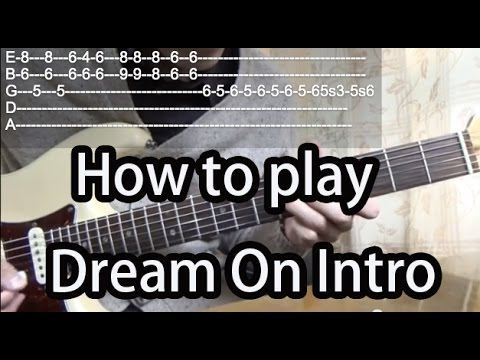 How To Play Dream On Intro-Aerosmith Guitar Tutorial With Tabs