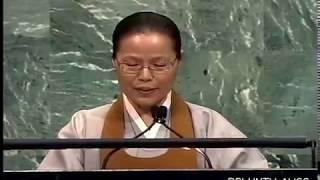 이정옥박사 유엔 Moral Politics, 도덕정치 WonBuddhism 원불교 유엔총회장 Chung Ohun Lee