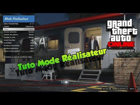 Tuto présentation Mode Réalisateur et trophés GTA 5 Online PS4/one et PC