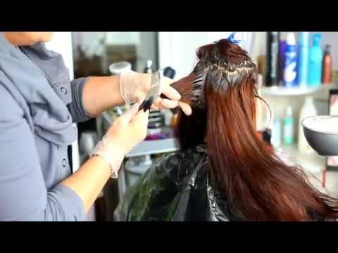 Как красить длинные волосы в домашних условиях видео