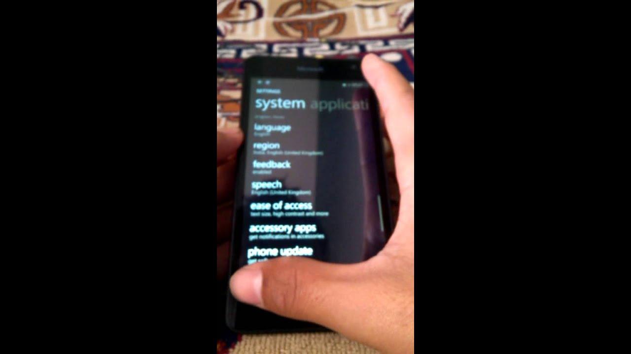 cortana settings in lumia 730
