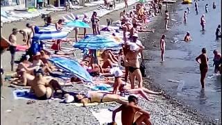 АЛУШТА сегодня.44 ПЛЯЖА ЗА 1 ДЕНЬ.Крым 2017.от центральной набережной до дикого пляжа