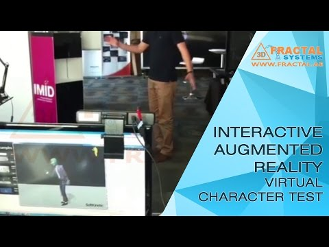 Interactive Augmented Reality Virtual Character Test