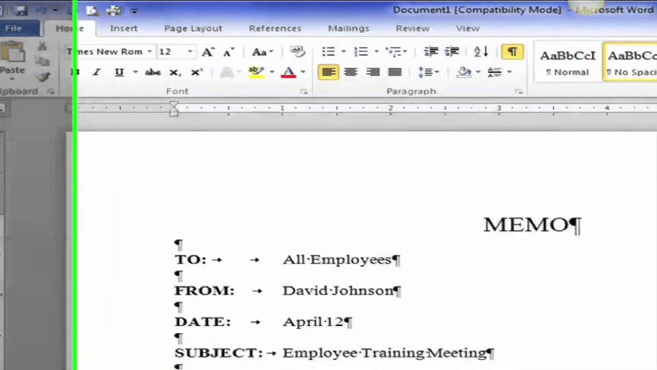 saylororg prdv003 word processing creating a block style business memo