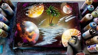 Nowhere in Space - SPRAY PAINT ART by Skech