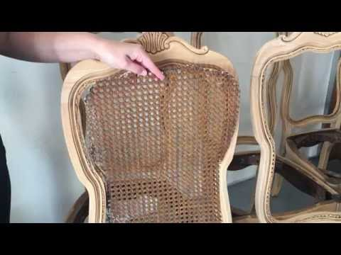 how to replace cane back chair with fabric bjs oversized aluminum rocking removing on the of chairs youtube