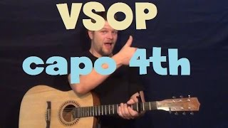 vsop k michelle easy strum guitar lesson how to play tutorial capo 4th fret