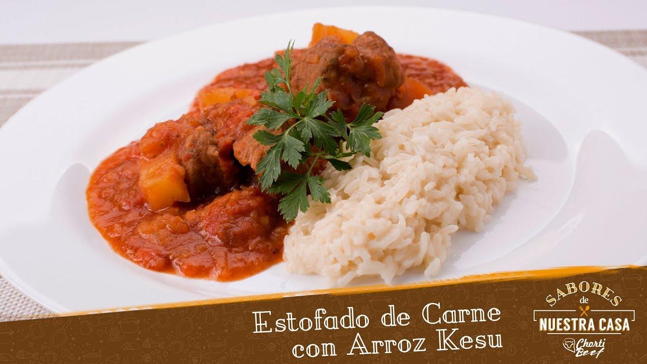 Sabores De Nuestra Casa Estofado De Carne Con Arroz Kesu Youtube