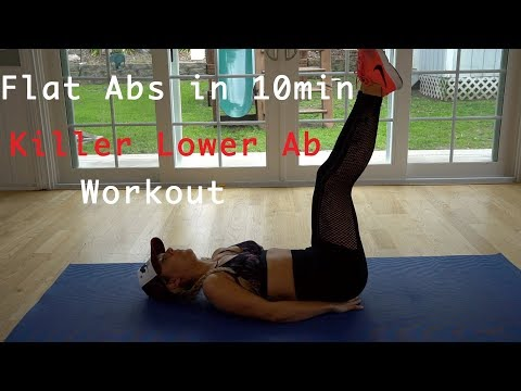 Best 5 Exercises For Your Lower Abs Workout! Flat Stomach In 10min