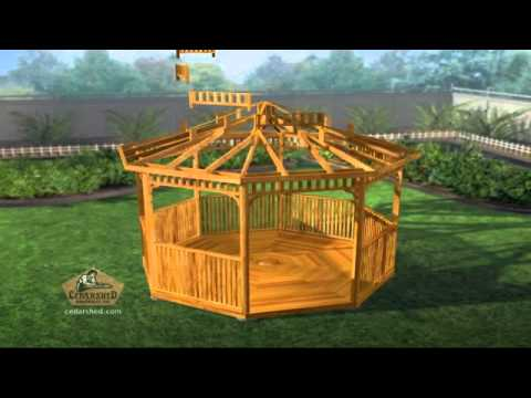 Octagon Pre Cut Gazebo Assembly Animation Youtube