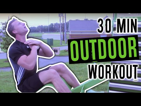 30 Minute Full Body Circuit Workout (HELIOS 7 Station Outdoor MultiGym) | LiveLeanTV