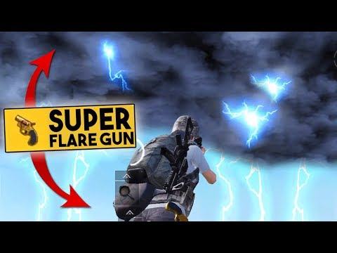 USING 2 SUPER FLARE GUNS INSIDE THE CIRCLE! | PUBG Mobile