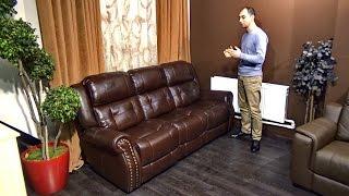 """Видео обзор дивана """"Локсли"""" прямой, кожаный"""